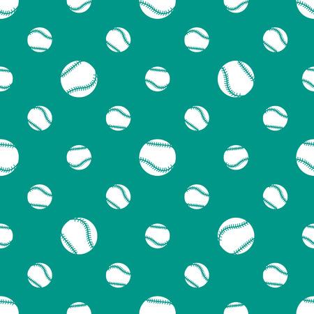 Modèle sans couture de vecteur avec des balles de baseball. Contexte sportif. Conception pour bannière, affiche ou impression. Vecteurs