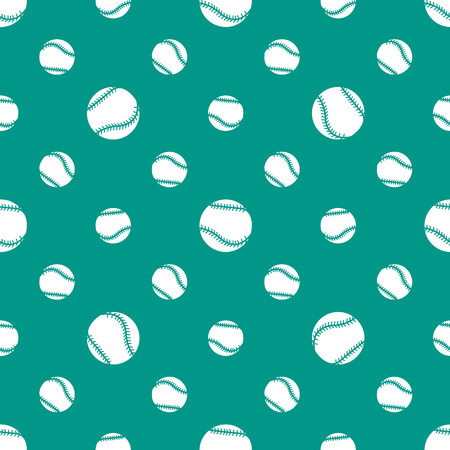 Vector seamless pattern with baseball balls. Sports background. Design for banner, poster or print.