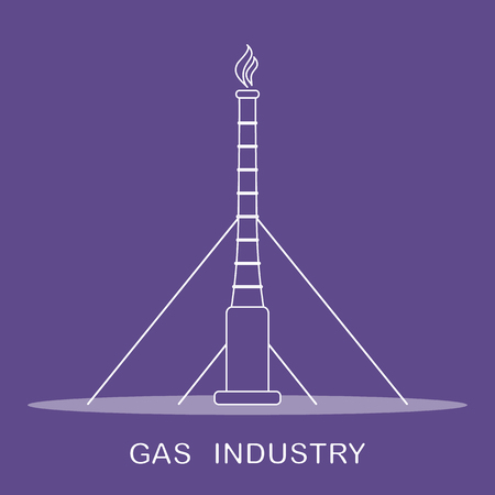 Vector illustration with equipment for gas production. Gas industry. Drilling gas rig. 版權商用圖片 - 121573437