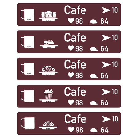 Application of augmented reality: AR for navigation in city or shopping center. Choosing cafe by location, comments and likes.