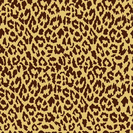 Vector seamless leopard pattern. Trendy background. Template for design, fabric, print. Illustration