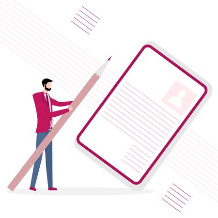 Vector illustration with staff recruitment. Hiring employees. Concept human resources. Design for web page, banner, presentation, social media, poster or print. 일러스트