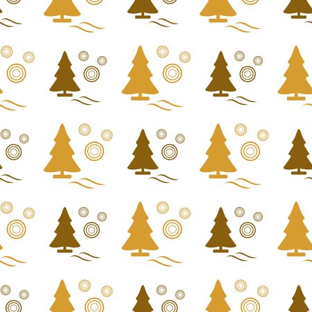Happy new year 2020, Merry Christmas. Vector seamless pattern with Christmas trees. Design for poster, party card, wrapping, fabric, print.