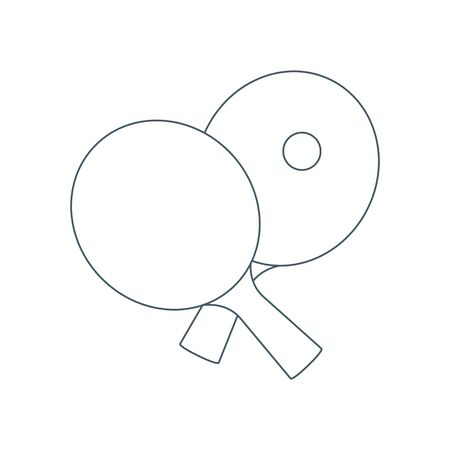 Vector illustration with sports equipment for table tennis.