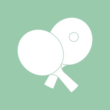 Vector illustration with sports equipment for table tennis