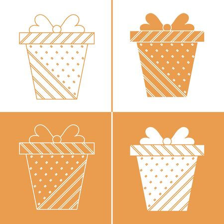 Vector illustration with gift boxes.