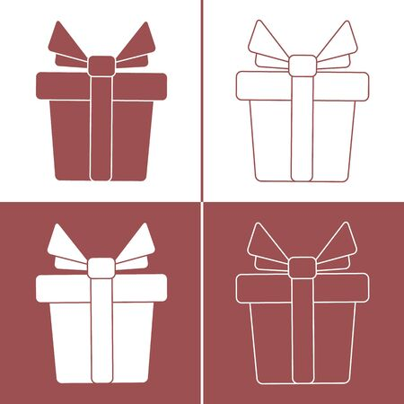 Vector illustration with gift boxes. Happy new year 2020, Merry Christmas, Valentines day, birthday, Mothers day, Fathers day, boxing day. Shopping, sale. 일러스트