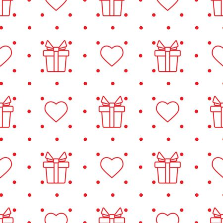 Vector seamless pattern Happy Valentines Day Birthday, Wedding, Mothers day Fathers day Heart Gift Romantic background Romance Feelings Love Relationship concept Design for packaging, fabric, print