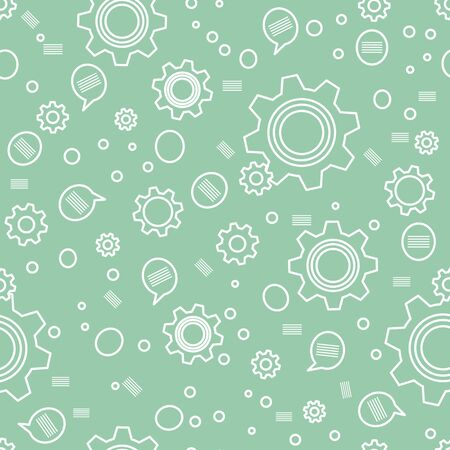 Vector industry seamless pattern Illustration with gear, cog wheel. Mechanical background. Teamwork, communication concept. Engineering development. Design wrapping, fabric, print