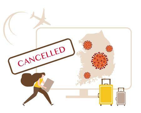 Vector illustration Quarantine.