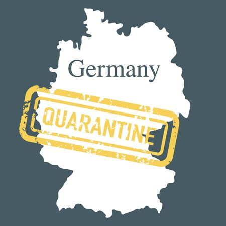 Vector illustration COVID-19 Pandemic. Quarantine Germany. Virus protection, infection prevention. Control Epidemic. Pathogen respiratory coronavirus 2019-nCoV. Health, medicine. Stop spread of virus