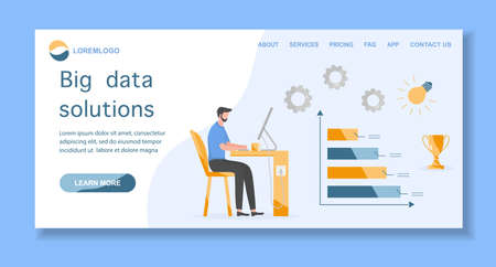 Vector illustration of business growth, financial increase. People. Search engine optimization, data analysis Big data, digital technology concept. 矢量图像