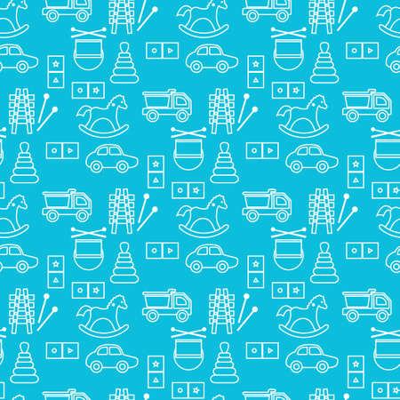 seamless pattern Kid's toys illustration