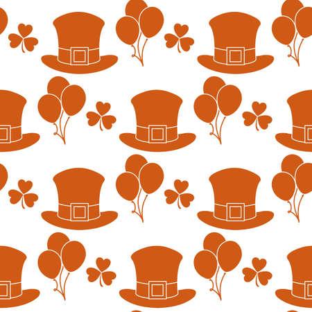 Vector seamless pattern Happy St. Patrick's Day illustration