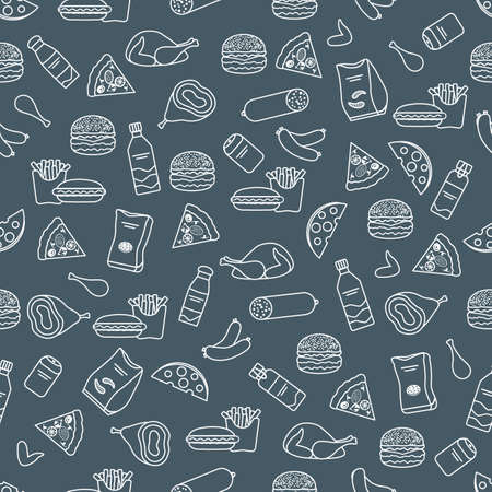 Vector Food Seamless pattern Illustration