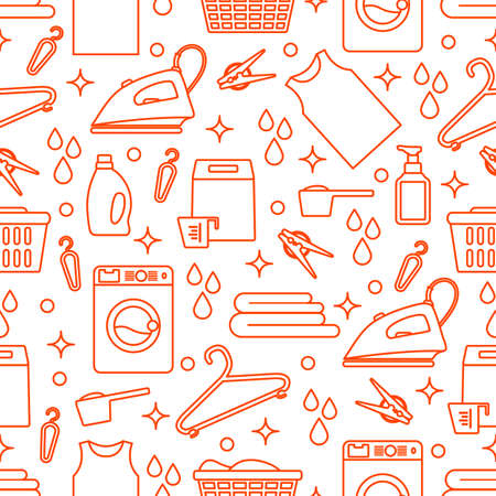 Vector Seamless pattern Illustration of cleaning equipment