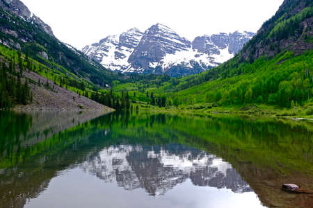 colorado state: Maroon Bells near Aspen, Colorado State, USA.
