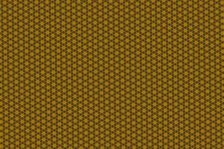 Yellow and brown regular floral pattern.