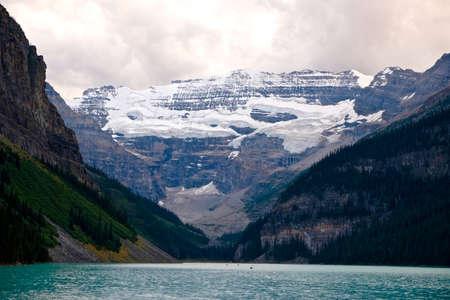 banff national park: Glacier and alpine lake. Banff National Park. Rocky Mountains. Alberta. Canada. Stock Photo