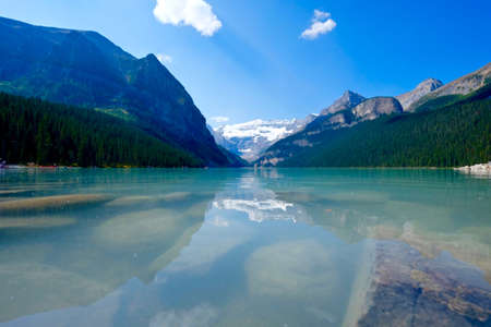 Lake Louise in Banff National Park. Rocky Mountains. Alberta. Canada. Stock Photo