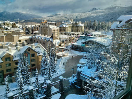 Ski resort in Whistler Olympic Village. British Columbia. Canada.