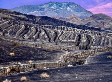 Landscape in Death Valley National Park. Ubehebe craters volcanic fields. California. United States.