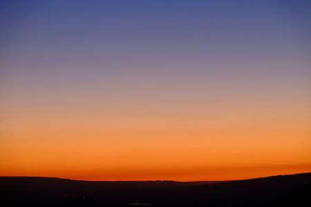 Sunset sky over Gannison Canyon. Colorado. United States.