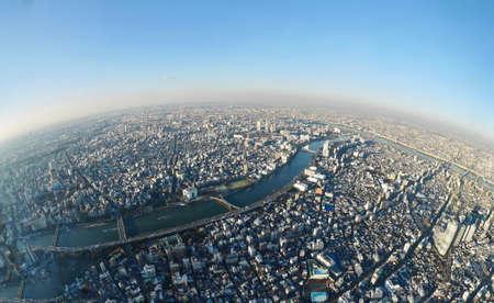 東京タワーからのスカイライン。墨田。東京です。日本。