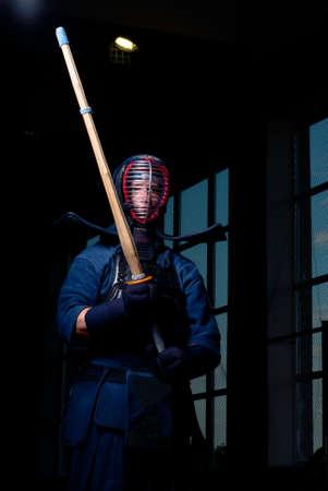 rampage: Kendo fighting, low key light