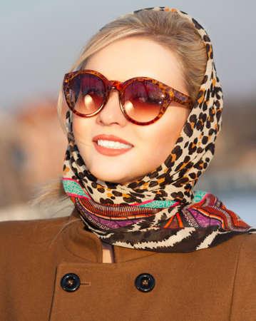 scincare: Beautiful girl portrait. Outdoor shot