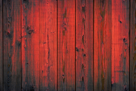 Red painted wooden peeling off planks, texture background Фото со стока - 20418907