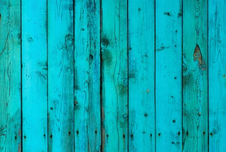 Painted wooden vertical planks, mint and blue colors, texture background