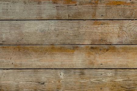 自然木の茶色とさびた板、壁やフェンス ノットと爪。抽象的なテクスチャ背景、空のテンプレート