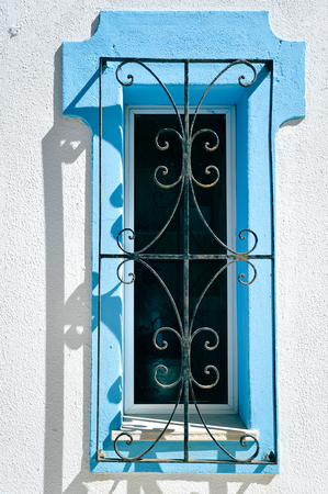 grille': Vintage beautiful iron window grille handmade