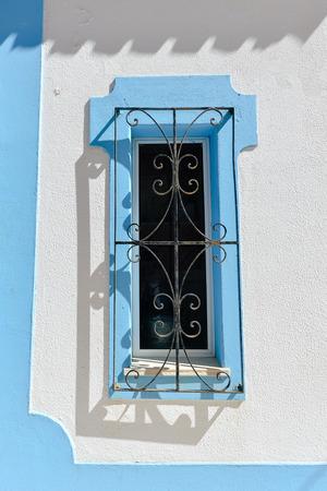 grille: Vintage beautiful iron window grille handmade