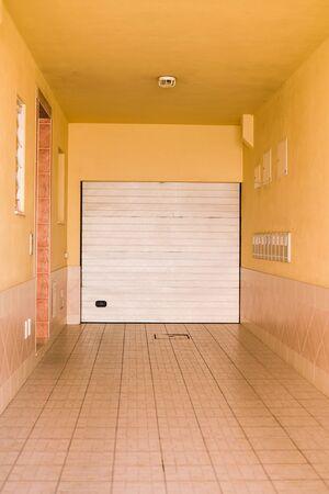 corrugation: Abstract garage of shop roller shutter background