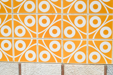 Colorful beautiful background of traditional Azulejos Portuguese tiles