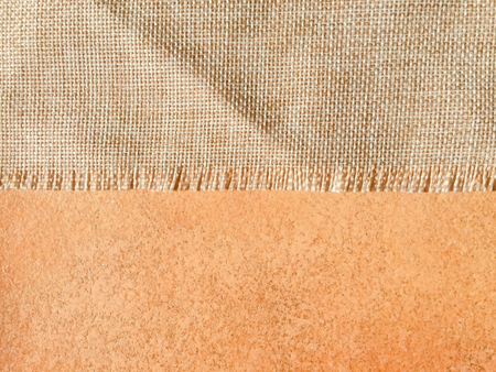 creasy: Light brown natural linen surface texture background