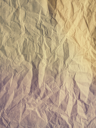 Macro closeup on textured crumpled paper background