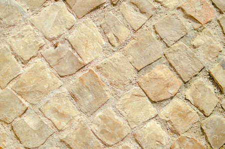 Close up on stone pattern tiles surface background Standard-Bild