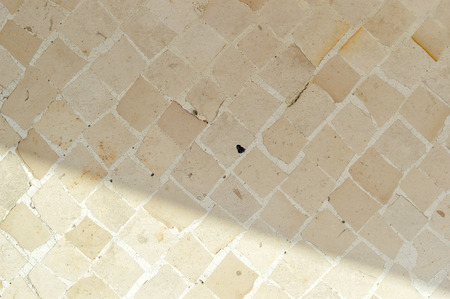 Close up on stone pattern tiles surface background