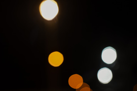 Blurry abstract light night city bokeh background