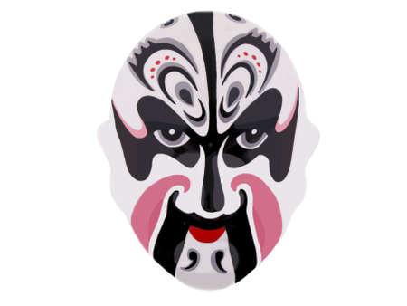 chinese opera: A chinese war mask on a white background