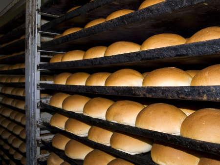 Caliente, pan fresco reci�n salido del horno Foto de archivo - 4845221