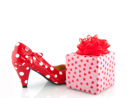 stilletto: speckles shoe and present for love