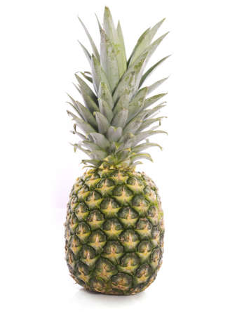 Fresh pineapple closeup isolated on a white background Stock Photo - 5082134