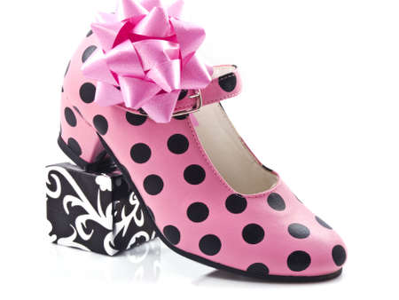 speckles: A speckles shoe with some decoration isolated Stock Photo