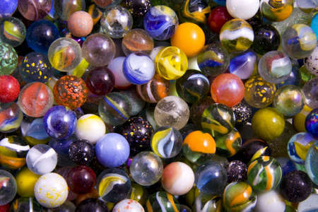 Lots of marbles with different colours for background use Stock Photo
