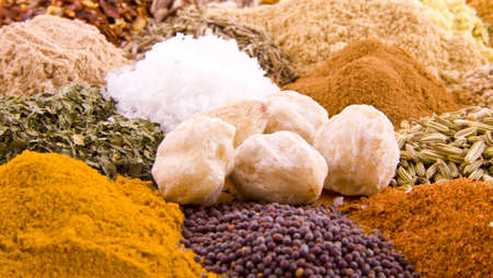 Combination of different kind of spices and herbs Stock Photo - 5932400