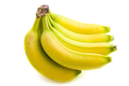 Bos van bananen van geïsoleerde over Wit